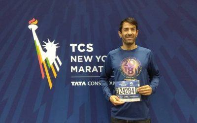 José María, en la maratón de Nueva York