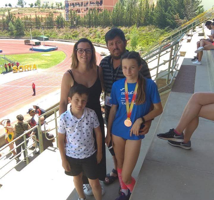 Paula Jordán medalla de bronce en el Campeonato de España sub14